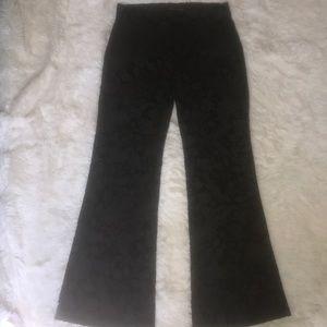 Women's Theory Velvet floral pants sz 2 C1